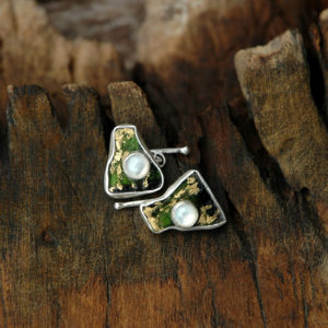 leaves-cufflinks-tourmaline-mother-of-pearl-silver
