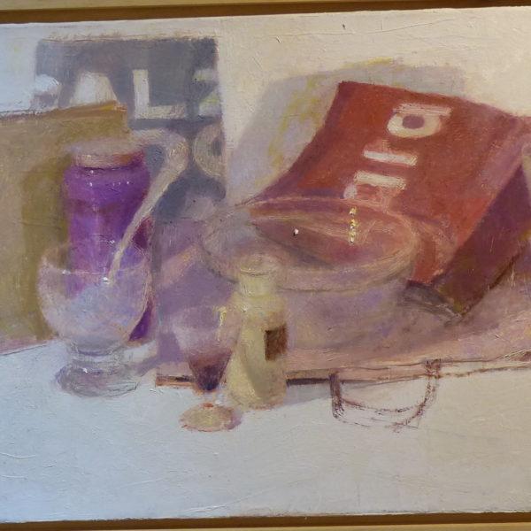 Composition en Violet, 40x80cm