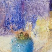 Azules sobre blanco, huile sur toile Pere Mon Taillant - close-up