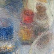 Tintero - Encrier huile sur toile de Pere Mon Taillant, détail