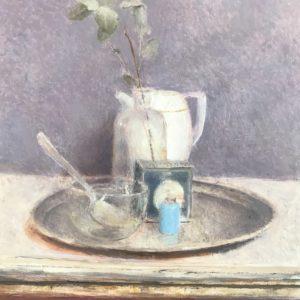 flacon bleu peinture huile de Pere Mon Taillant